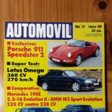 Coches: AUTOMOVIL Nº 157 AÑO 1991. PRUEBA: LOTUS OMEGA. COMP: OPEL CORSA GSI Y ROVER 114 GTI 16V. Lote 182825698