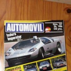 Coches: AUTOMOVIL Nº 107 - ISDERA IMPERATOR -JAGUAR XJS V12 -CITROEN BX 19 GTI A-UDI 80 QUATTRO ALFA 75. Lote 182827978