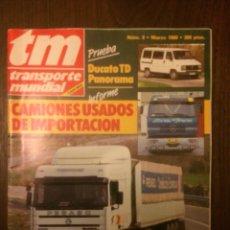 Coches: REVISTA TRANSPORTE MUNDIAL NÚMERO 9 DE MARZO 1988 PEGASO TRONER 1236. Lote 183708655