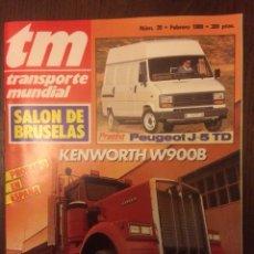 Coches: REVISTA TRANSPORTE MUNDIAL NÚMERO 20 FEBRERO 1989 KENWORTH. Lote 183708920