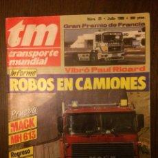 Coches: REVISTA TRANSPORTE MUNDIAL NÚMERO 25 DE 1989 MACK. Lote 183709058