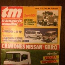 Coches: REVISTA TRANSPORTE MUNDIAL NÚMERO 13 DE JULIO 1988 NISSAN EBRO. Lote 183709180