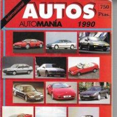 Coches: REVISTAS * AUTOS , AUTOMANÍA 1990 * INTERNACIONAL ( MÁS DE 355 MODELOS). Lote 183854913