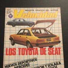 Carros: VELOCIDAD Nº 1044 - RENAULT FUEGO 20 30 / TALBOT HORIZON SOLARA AUTOMATICO / MERCEDES S COUPE. Lote 184146813