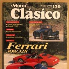 Coches: MOTOR CLÁSICO N° 170 (MAYO 2002). DOSSIER FERRARI 308/328, FORD CAPRI 2000 GT, VAUXHALL CRESTA PB,... Lote 184584315