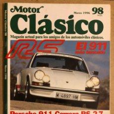 Carros: MOTOR CLÁSICO N ° 98 (MARZO 1997). PORSCHE 911 RS 2.7., DELAHAYE 135 M, PROTOS,.... Lote 184587385