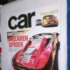 Coches: REVISTA CAR Nº66 SEPTIEMBRE 2012 MCLAREN SPIDER,GOLF GTI,FOCUS ST,BMW M6,PAGANI,FORNASARI RACING BU . Lote 184626476
