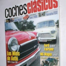 Coches: REVISTA COCHES CLASICOS Nº12 AÑO I 2005 MINIS AUTHI,MEPRE,FORD FAIRLANE,MG MAGNA,ROLLS SILVER S.SEAT. Lote 185989278