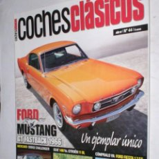 Coches: REVISTA COCHES CLASICOS Nº44 AÑO IV 2008 FORD MUSTANG GT1966,DODGE CHALLENGER,FIESTA 13SS,SEAT 1400 . Lote 185993128