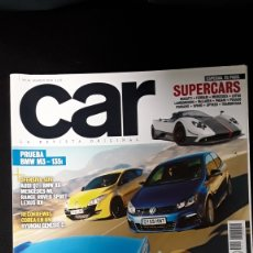 Coches: REVISTA CAR 36-MARZO 2010-BMW M3 -135I-GOLF R-MEGANE RS- 911 GT3. Lote 187520895