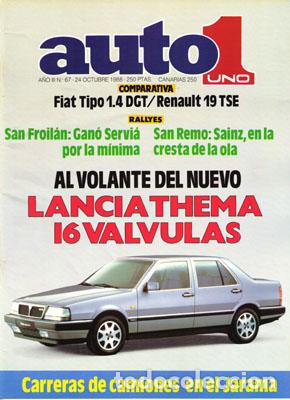 AUTO 1 Nº 067 (24-10-88) (Coches y Motocicletas Antiguas y Clásicas - Revistas de Coches)