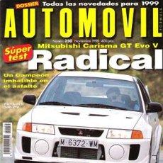 Coches: AUTOMOVIL Nº 250 (NOVIEMBRE 1998). Lote 187659100