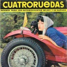 Coches: CUATRORUEDAS Nº 001 (SEPTIEMBRE 1963). Lote 187660100