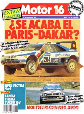 MOTOR 16 Nº 274 (21-01-89) (Coches y Motocicletas Antiguas y Clásicas - Revistas de Coches)