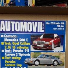 Coches: --REVISTA AUTOMOVIL 155 - DICIEMBRE 1990- OPEL CALIBRA 2.0 I 16V - PORSCHE 911 CARRERA CUP. Lote 188702070