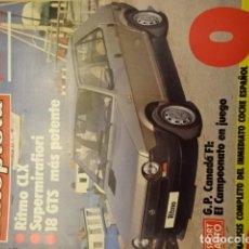Carros: REVISTA AUTOPISTA 1165 SEAT RITMO CLX SUPERMIRAFIORI RENAULT 18 GTS RENAULT 9. Lote 189768376