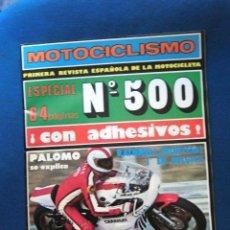 Coches: REVISTA MOTOCICLISMO ORIGINAL 1977 ESPAÑA Nº500 MOTOR COLECCION PRIVADA. Lote 190123837