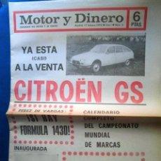 Coches: PERIODIC MOTOR Y DINERO Nº2 1973 CITROEN RARO COMPETO DE COLECCION PRIVADA. Lote 190124207