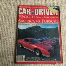 Voitures: CAR AND DRIVER AUGUST 1982 - AMERICA VS PORSCHE. Lote 190372440