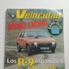 Coches: VELOCIDAD - 27 MARZO 1982 // REVISTA SEAT RITMO CRONO RENAULT 9 GTL TSE FERRARI 750 MONZA KARTING. Lote 191174537