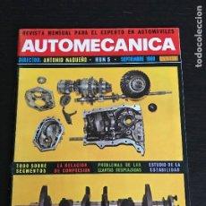 Coches: AUTOMECANICA Nº 5 - SEPTIEMBRE 1969 - MERCEDES C 111 MECANICA DODGE SEAT ESTABILIDAD AUTO. Lote 191325777