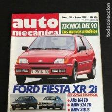 Coches: AUTOMECANICA Nº 238 - FORD FIESTA XR2I BMW 318 IS 524 TD ALFA ROMEO 164 FERRARI 348 TB GAMA OPEL. Lote 191325806