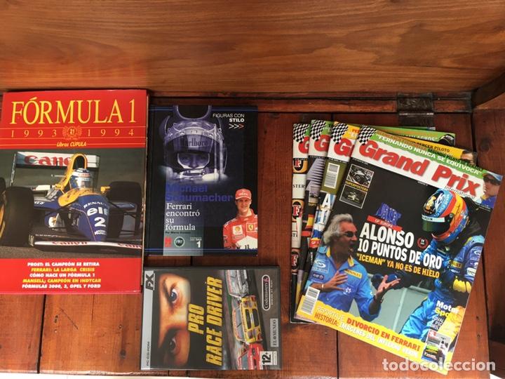VARIOS ARTÍCULOS FÓRMULA 1. (2 LIBROS, 4 REVISTAS GRAND PRIX, 1 JUEGO ORDENADOR) (Coches y Motocicletas Antiguas y Clásicas - Revistas de Coches)