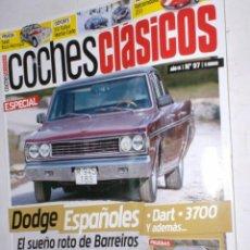 Coches: REVISTA COCHES CLASICOS Nº97 AÑO IX 2013 DODGE ESPAÑOLES,HISPANO SUIZA K6,OPEL MANTA I200,IBIZA MAN . Lote 192359396