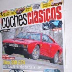 Coches: REVISTA COCHES CLASICOS Nº99 AÑO IX 2013 DINO308 GT4,BIANCHI 112ABARTH,FIESTA 1,6D,DAIMLER V8,SUMBEA. Lote 192362217