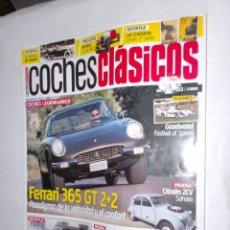 Coches: REVISTA COCHES CLASICOS Nº103 AÑO IX 2013 FERRARI 365GT 2+2,CITROEN 2CV SAHARA,SEAT600 Y COLECCION . Lote 192470551