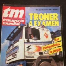 Auto: REVISTA TRANSPORTE MUNDIAL N. 29 CAMION PEGASO TRONER DE 1989. Lote 192557790