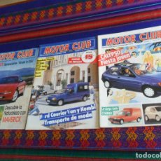 Voitures: MOTOR CLUB FORD NºS 12, 13 Y 18. 1991. 325 PTS. FIESTA CALYPSO, COURIER, PROBE 24V. . Lote 193726630