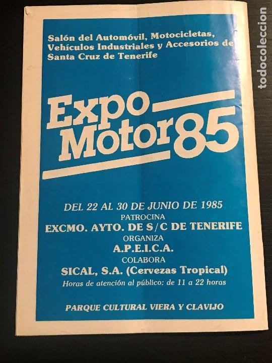 Coches: CANARIAS MOTOR Nº 155 - EXPOMOTOR 85 RALLY SANTA CRUZ CIUDAD TELDE RALLYESPRINT ATOGO - Foto 4 - 194154566