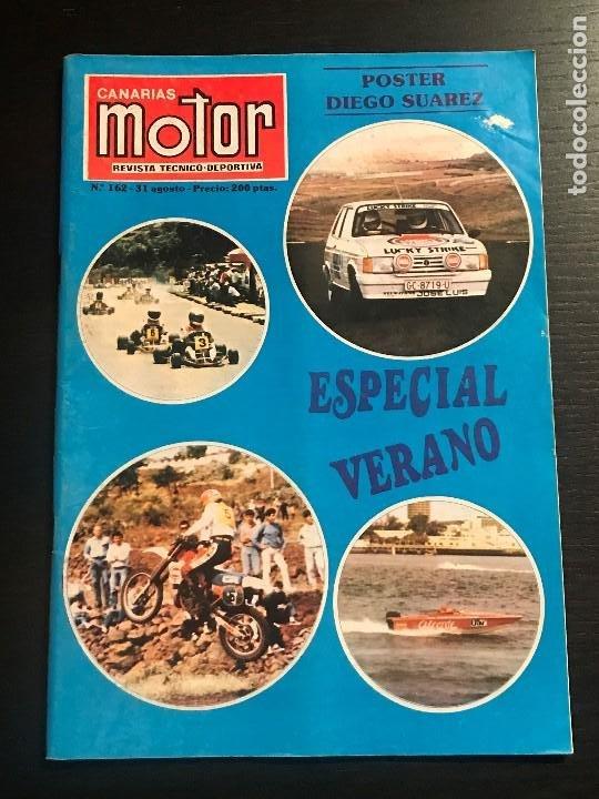 CANARIAS MOTOR Nº 162 - POSTER HONDA CIVIC SUAREZ MUSEO TURIN TOYOTA TWIN CAM SUBIDA GUIMAR RALLYE (Coches y Motocicletas Antiguas y Clásicas - Revistas de Coches)