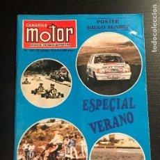Coches: CANARIAS MOTOR Nº 162 - POSTER HONDA CIVIC SUAREZ MUSEO TURIN TOYOTA TWIN CAM SUBIDA GUIMAR RALLYE. Lote 194155545