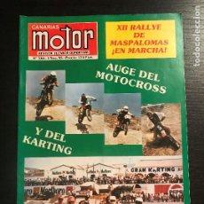 Coches: CANARIAS MOTOR Nº 166 - LANCIA DELTA S4 RALLYESPRINT LA MANZANA RALLYE MASPALOMAS CRITERIUM ABONA. Lote 194155770