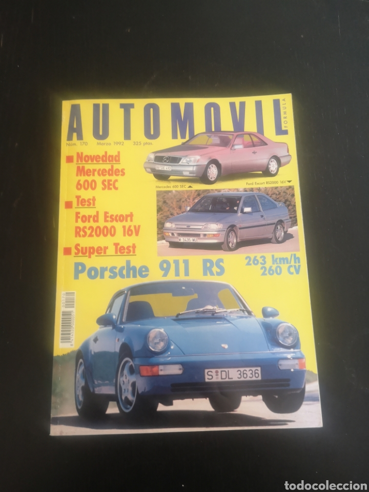 AUTOMOVIL NUM 170 MARZO DE 1992 PRUEBA PORSCHE 911 964 RS, (Coches y Motocicletas Antiguas y Clásicas - Revistas de Coches)