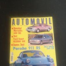 Coches: AUTOMOVIL NUM 170 MARZO DE 1992 PRUEBA PORSCHE 911 964 RS,. Lote 194205667