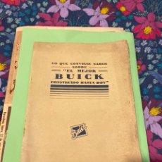 Coches: CATÁLOGO DE BUICK 1927. Lote 194219588