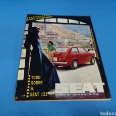Coches: REVISTA SEAT NUM. 88 AÑO 1974 PÓSTER CENTRAL SEAT 133. Lote 194278516