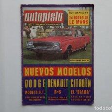 Coches: AUTOPISTA Nº 503 AÑO 1968 DODGE RENAULT CITROEN 24 HORAS LE MANS. Lote 194292931