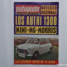 Coches: AUTOPISTA Nº 504 AÑO 1968 MORRIS MINI 1275 C 24 HORAS LE MANS. Lote 194293067
