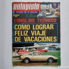 Coches: AUTOPISTA Nº 542 AÑO 1969 OPEL 1900 GT PRUEBAS RENAULT 4 PRIMULA COUPE-S, OREJAS ALPINE IRALLY LEON. Lote 194293536