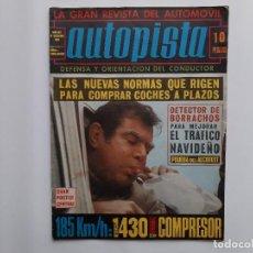 Coches: AUTOPISTA Nº 567 AÑO 1969 SEAT 1430 PRUEBA CON COMPRESOR 185 KM/H. , POSTER MINI COOPER JOHN RHODES . Lote 194293903