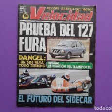 Coches: VELOCIDAD 1982 Nº1066 PRUEBRA 127 FURA VOLVO760-GLE DANGEL 504 TODO TERRENO LANCIA DELTA . Lote 194354968