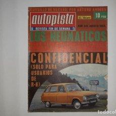 Coches: AUTOPISTA Nº 548 AÑO 1969 R 6, OPEL SERIE K,A,D. LA CORUÑA PEÑA PORSCHE 907 ,DELITO OMISION SOCORRO. Lote 194357361