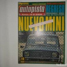 Coches: AUTOPISTA Nº 550 AÑO 1969, MINI 1000, VOLVO 164, JUAN FERNANDEZ PORSCHE 908 VENCEDOR NOGARO, BRABHAM. Lote 194357465