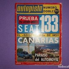 Coches: AUTOPISTA DOBLE Nº 840-841 AÑO 1975 SEAT 133 DERBY CAMPEONA DEL MUNDO 1ª VICTORIA FORMULA 1 PRYCE . Lote 194357550