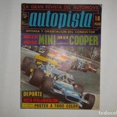 Coches: AUTOPISTA Nº 563 AÑO 1969, MINI COOPER 150 K/M , POSTER PORSCHE 908 ATTWOOD RALLYE BARCELONA ANDORRA. Lote 194357937