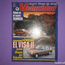 Coches: VELOCIDAD 1981 Nº 1021 NOVEDAD EL VISA II VW MEJORA SCIROCCOPOSTER CENTRAL UNIVERSITY MOBYLETTE . Lote 194357952